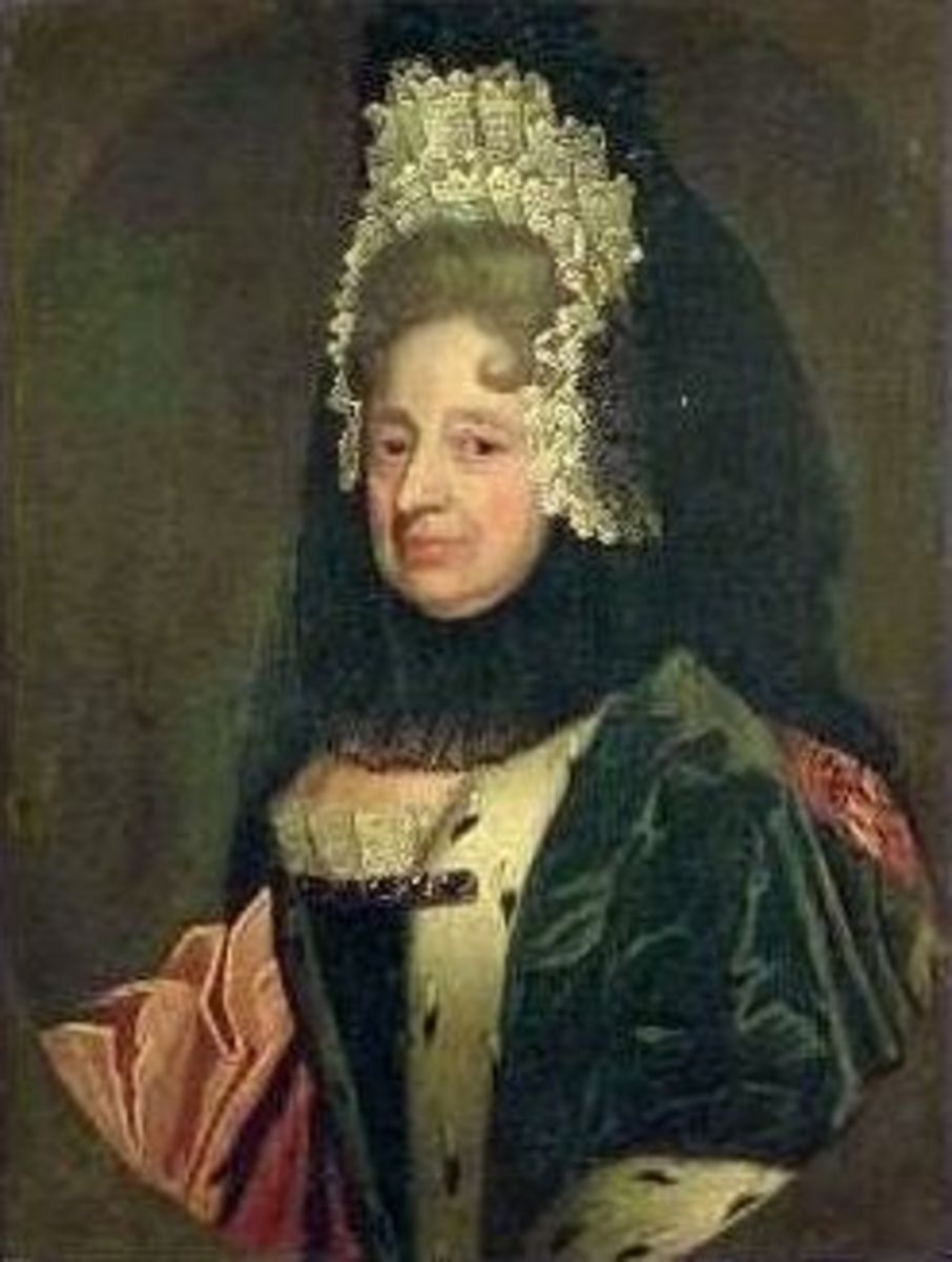 Electress Sophia of Hanover, George I's mother. It was via her mother Elzabeth Stuart that the Hanoverians had a claim to the British throne.