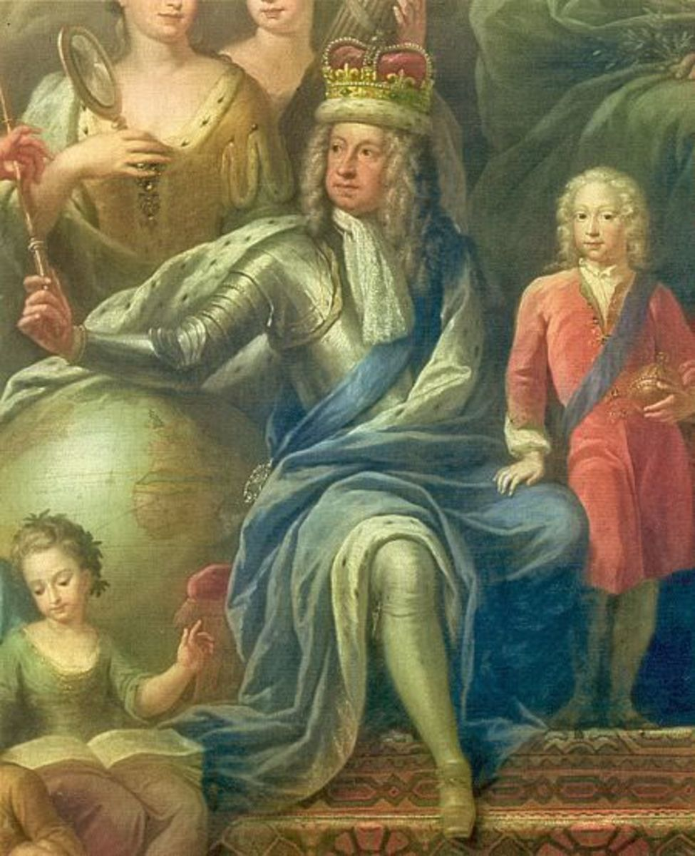 George I shown with his son, the future King George II.