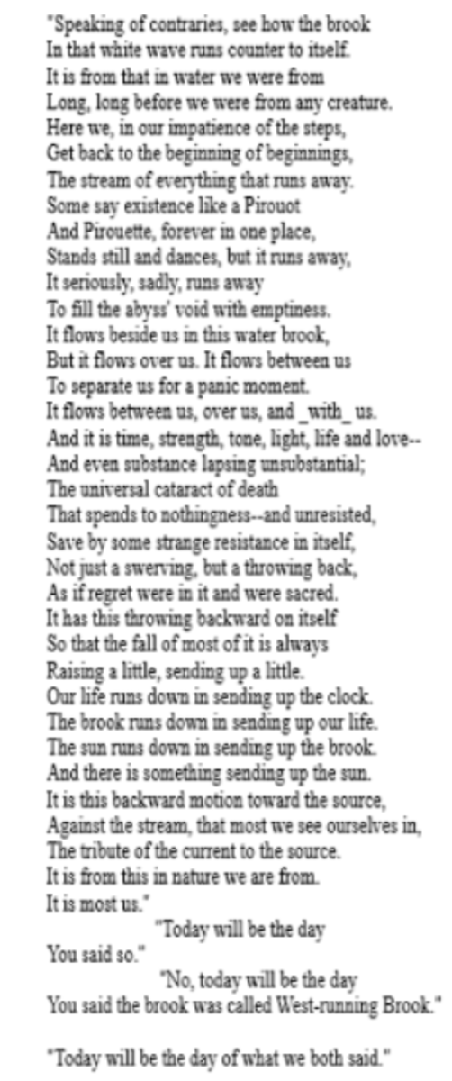 analysis-of-poem-west-running-brook-by-robert-frost