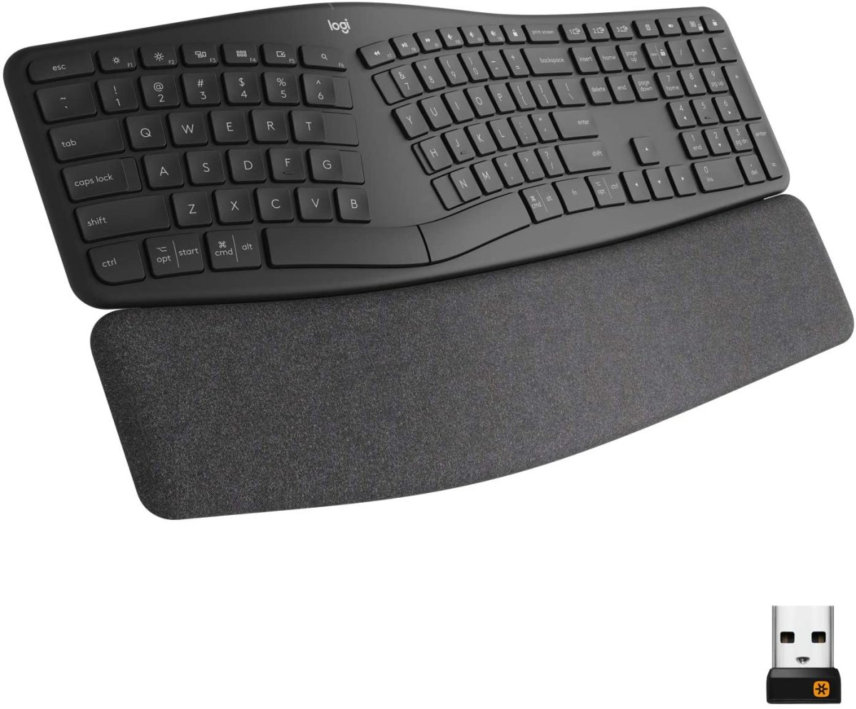 Logitech's Ergo K860 puts your health first with a form factor designed to reduce the strain on your hands and wrists.