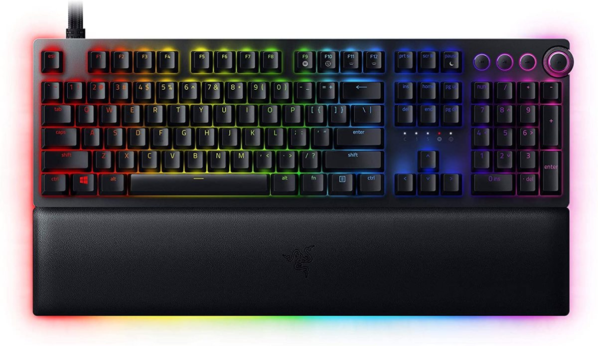 The Razer Huntsman V2 Analog is a premium board with premium features, including key switches that can be adjusted to suit your tastes.