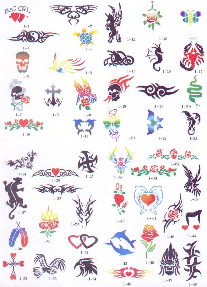 Temporary Tattoos you could choose from. Temporary Tattoos today look very real.