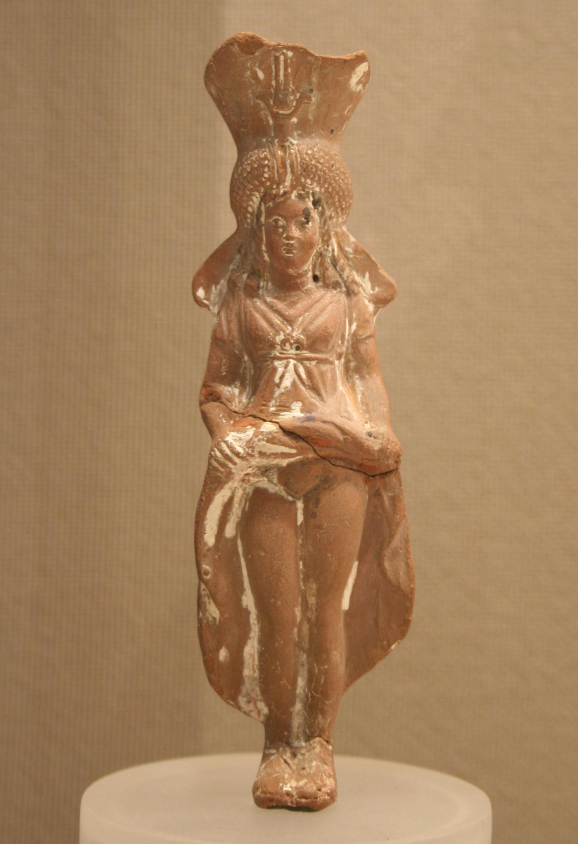 Isis-Aphrodite | Terracotta painted brown, black, red, and