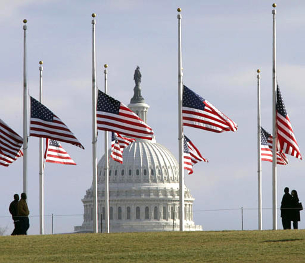 Flags are at halfstaff