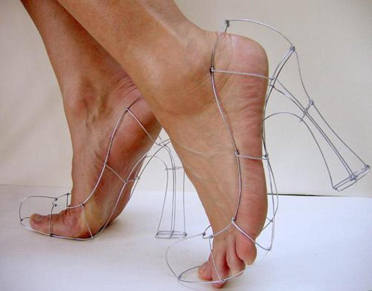 The right form of shoes cradles the foot for a good rest while walking and standing
