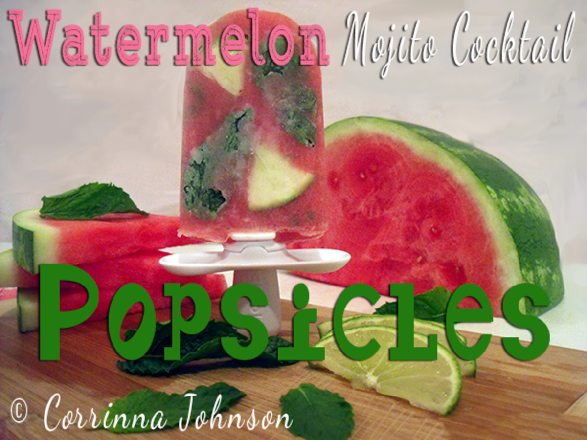 Boozy Watermelon Mojito Cocktail Popsicles For The Grown Ups