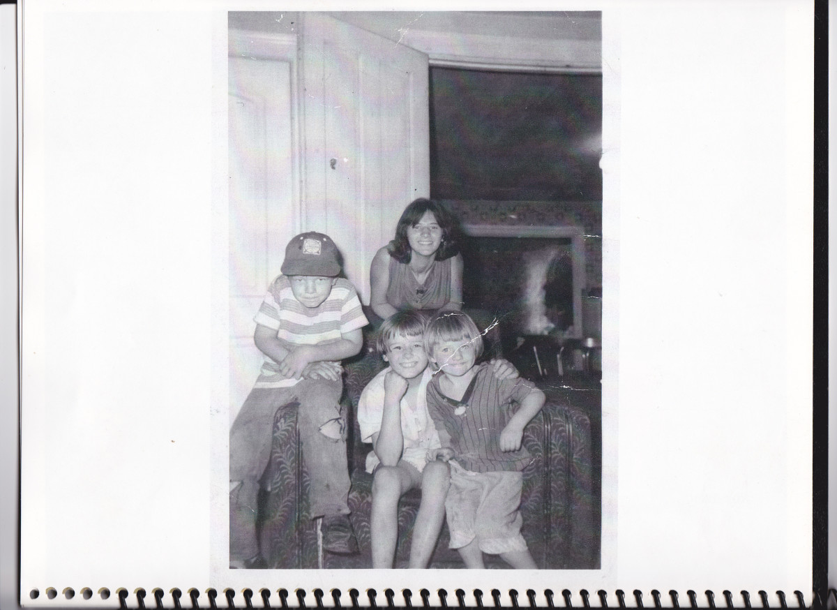Sitting left to right:  Philip, Patty, and Connie.  Beatrice is standing in back.  Picture taken in probably 1963.