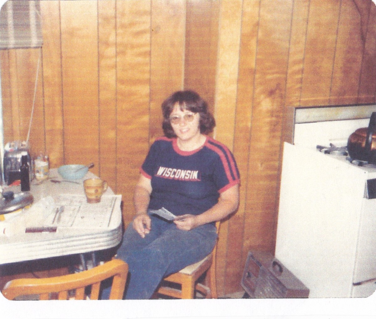 Patty had just received news of getting accepted into the University of Minnesota vet school.  Picture taken in 1982