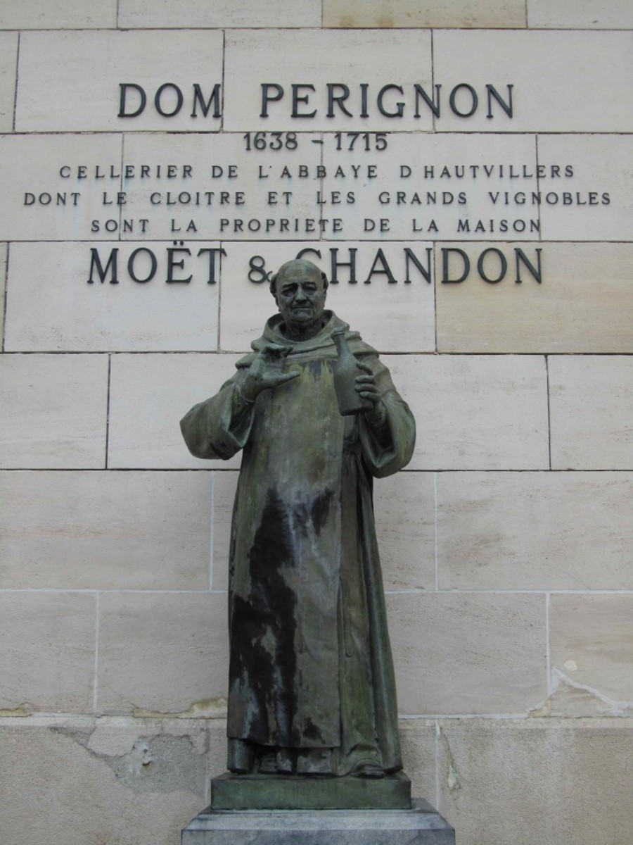 Was Dom Pérignon really the first man to taste sparkling wine? Is it possible somebody else (maybe the English) beat him to it?