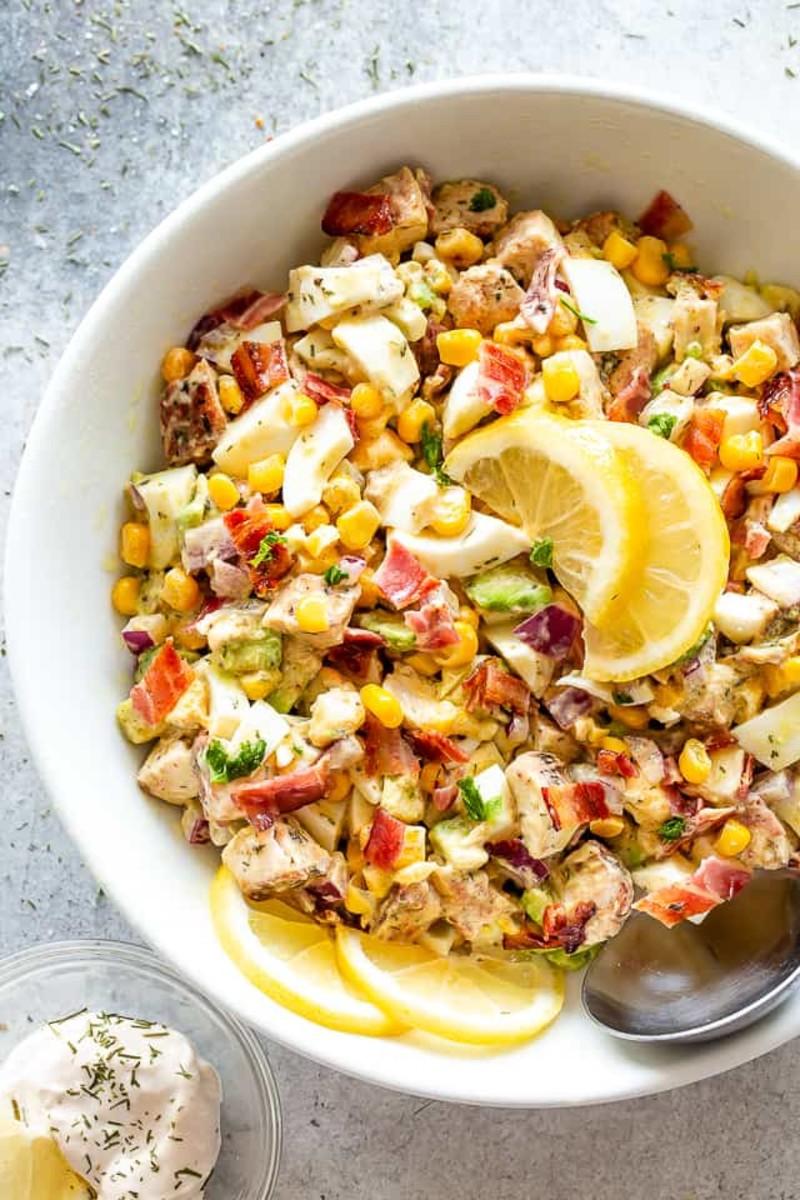 Avocado Chicken Egg Salad