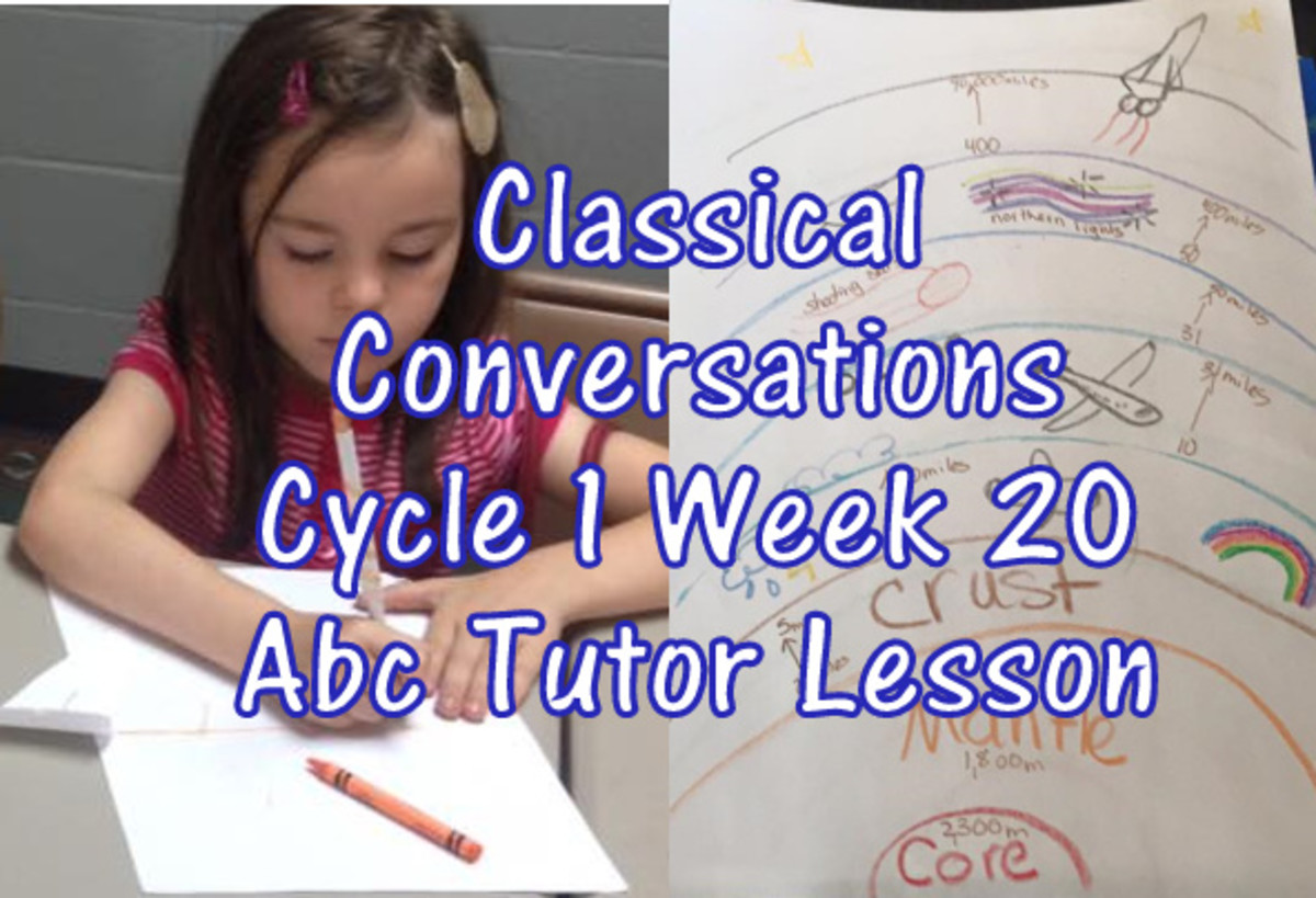 Classical Conversations Cycle 1 Week 20 Abc Tutor Plan
