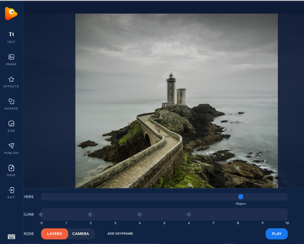 When using the 3D Parallax feature in PhotoVibrance, choose images with easy to clone backgrounds