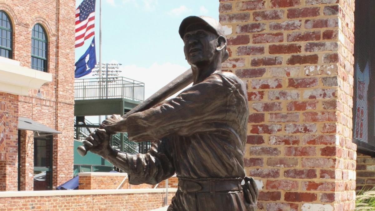 Joe Jackson outside of Flour Field, in Greenville,SC.