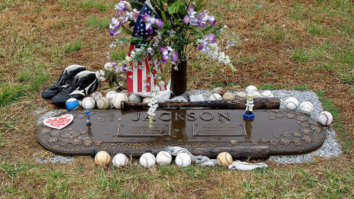 Joe Jackson's Grave located at Woodlawn Memorial Park, Wade Hampton, SC.