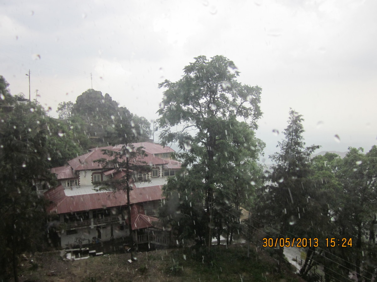Rains welcomed us in Mussoorie in May, 2013 .... Photograph by Vanita Thakkar