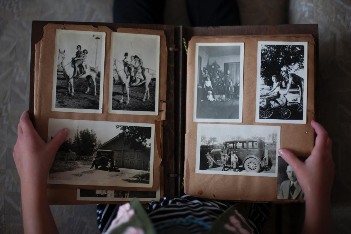 Consider organizing and redoing his ratty photo albums.