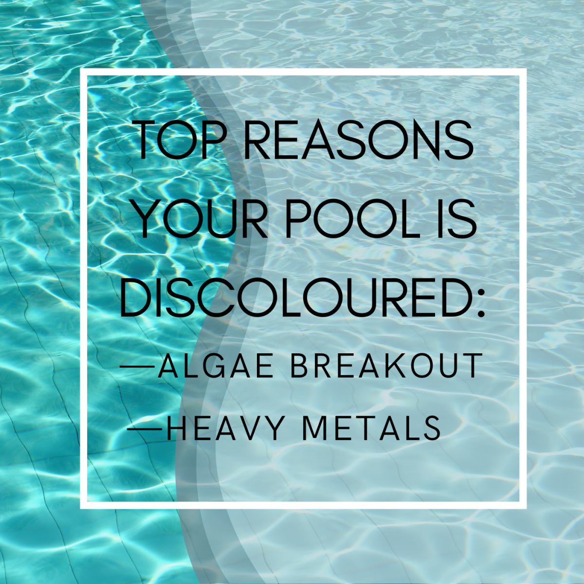 Learn why your pool is that unpleasant color and how to fix it.
