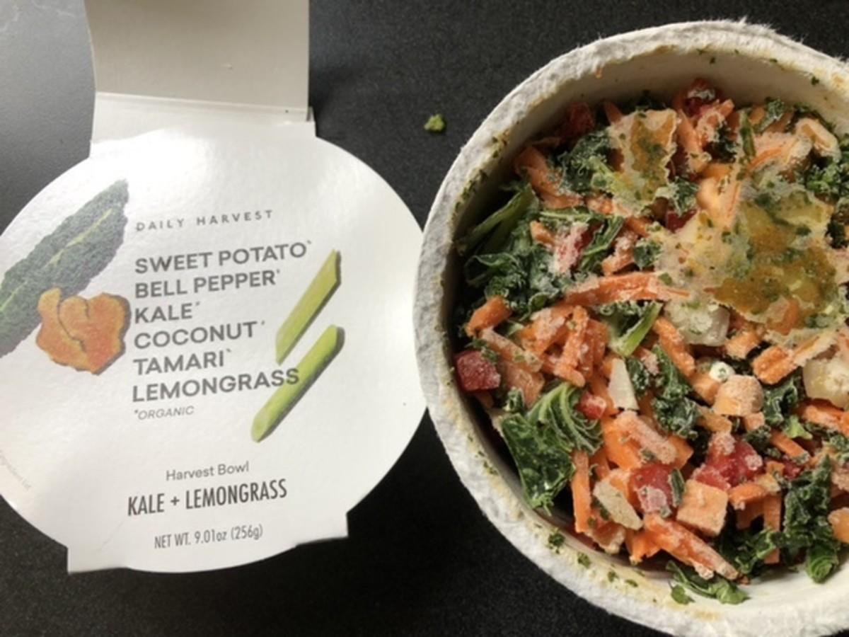 Kale and lemongrass, frozen