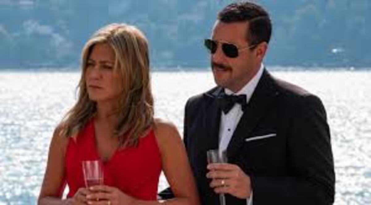 Jennifer Aniston and Adam Sandler in Murder Mystery
