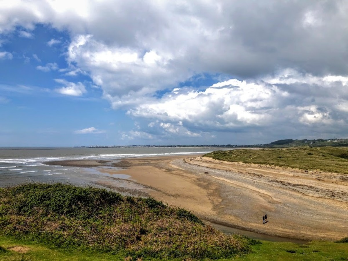 Views at the beginning of the walk from Ogmore car park.