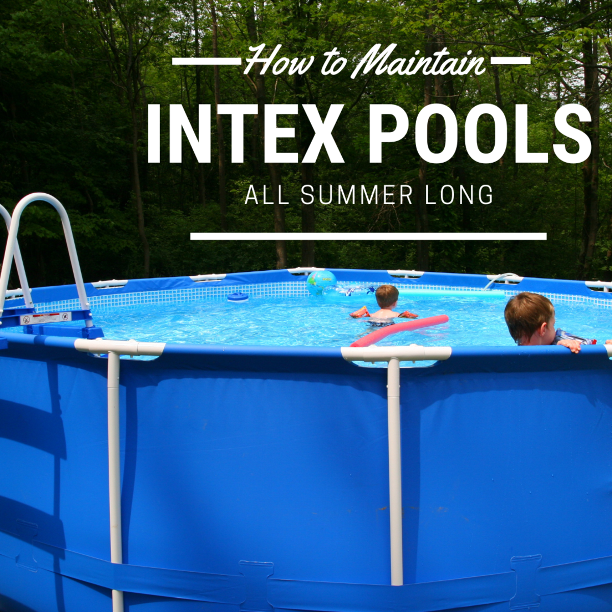 Care for your Intex pool properly to enjoy swimming in crystal clear water all summer long.