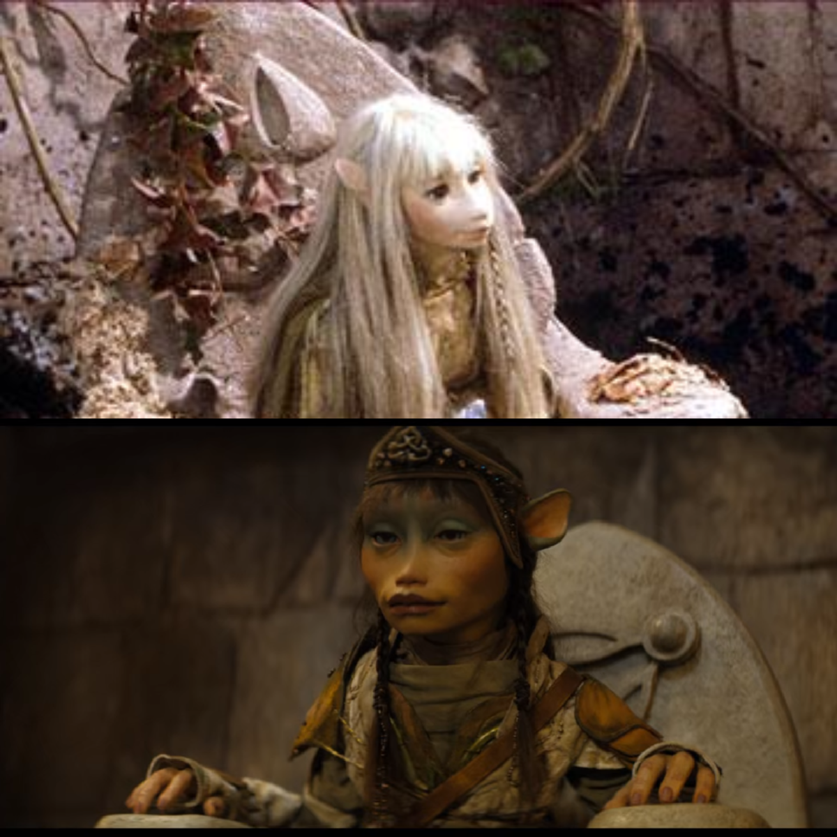 Notice the three petal flower on the thrown behind Kira (from movie).  The logo was different from the prequel. (on bottom photo).