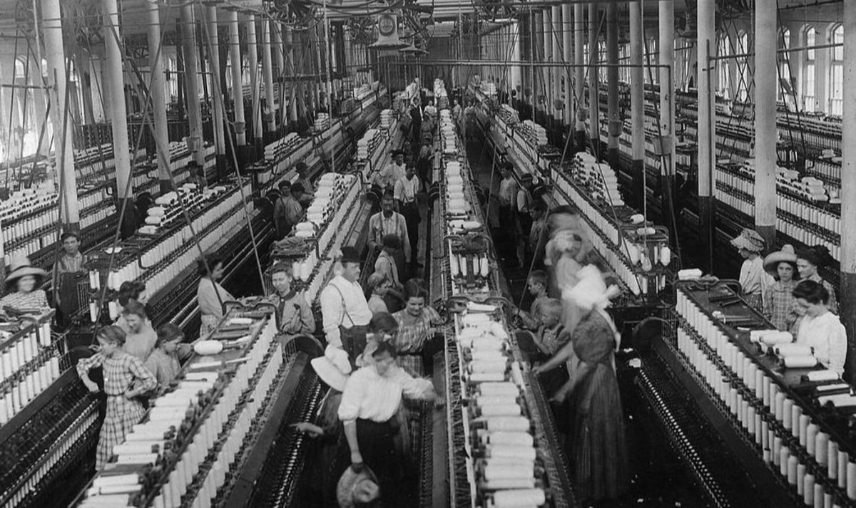 Although women played a critical role in the industries of the Industrial Revolution, such as the mills, the changes it brought diminished their economic status in society