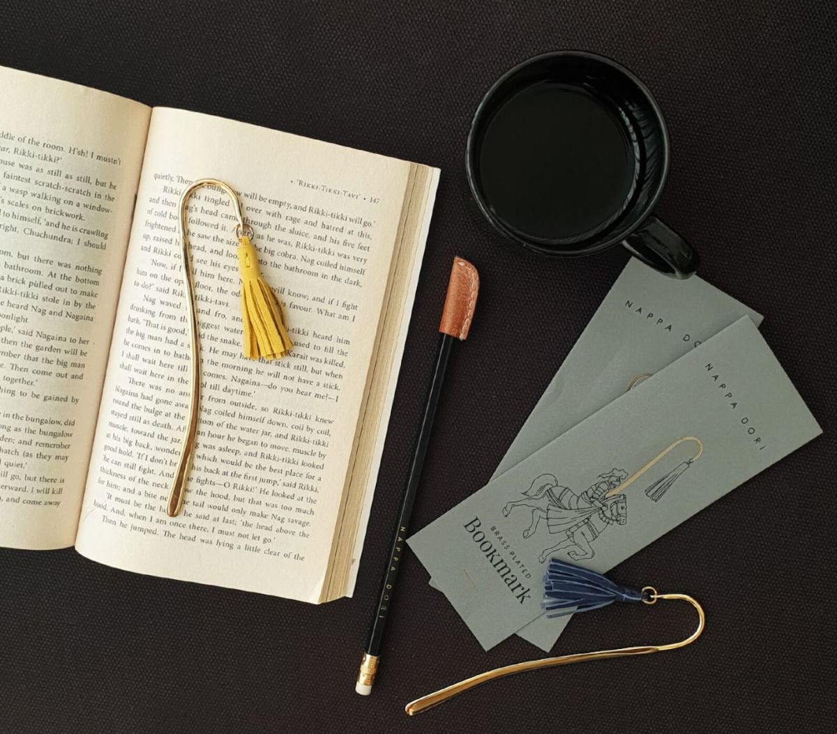 Brass Bookmark for dad.