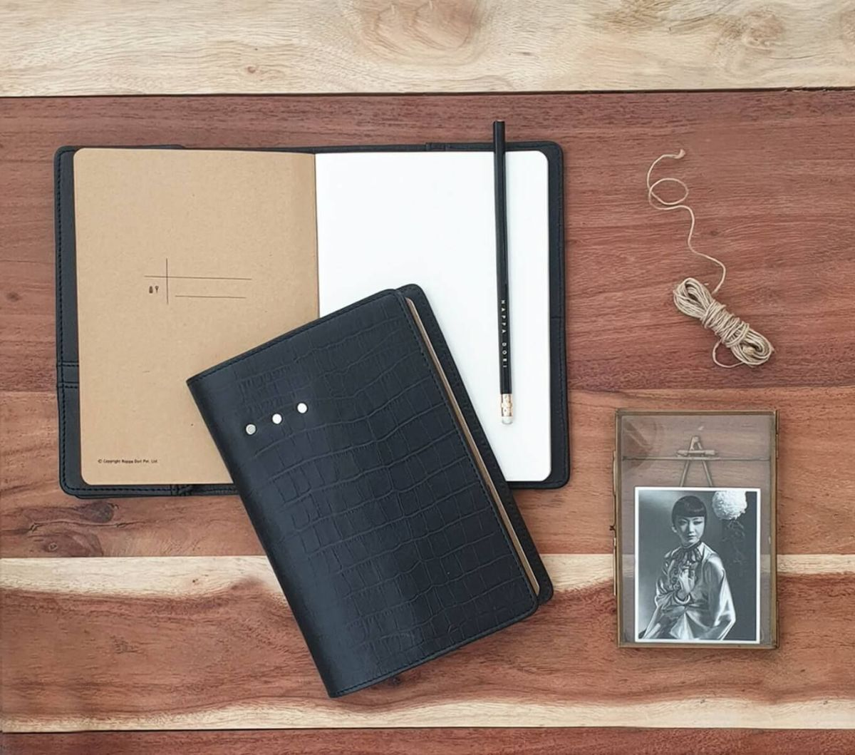 Leather Organiser for dad working from home.