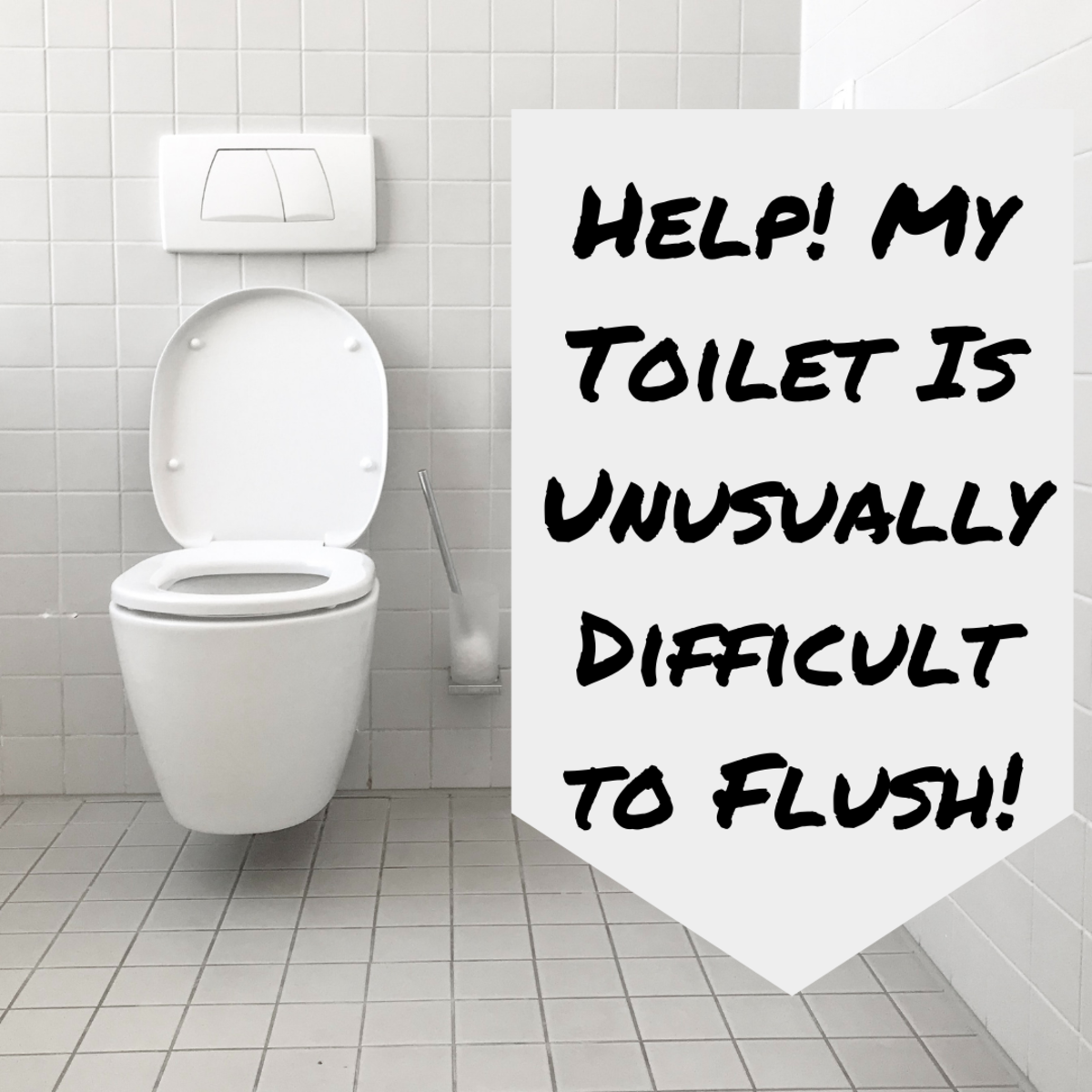 Is your toilet handle way too hard to push? This article will guide you through fixing the issue.