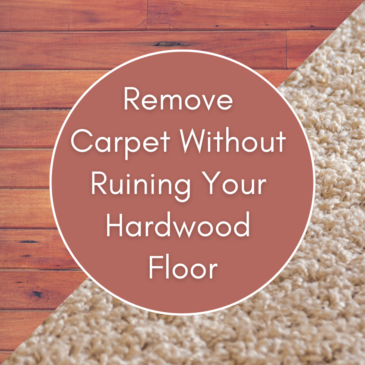Learn how to remove carpet without causing damage to the hardwood floor below.