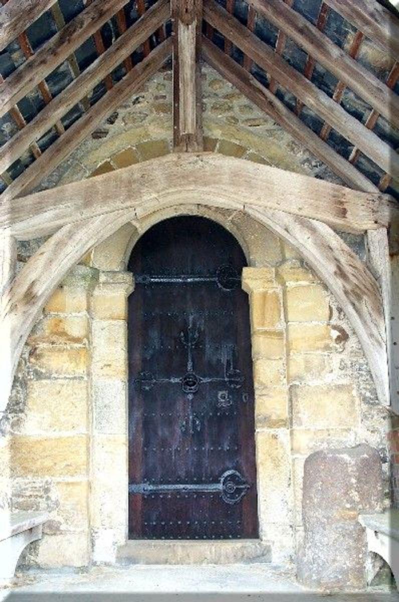 Detail of the west door