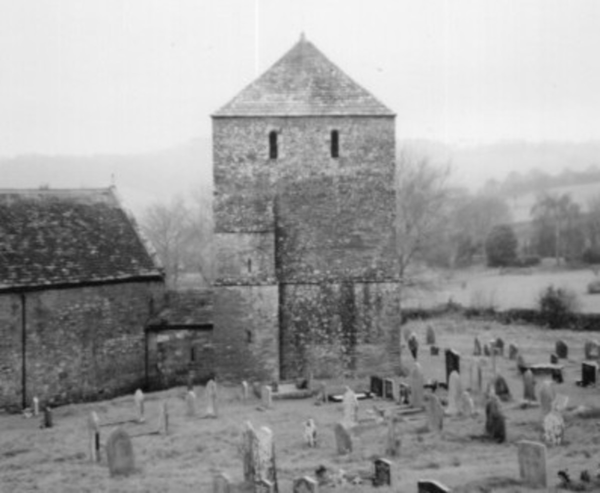 Garway Church in the 1910s