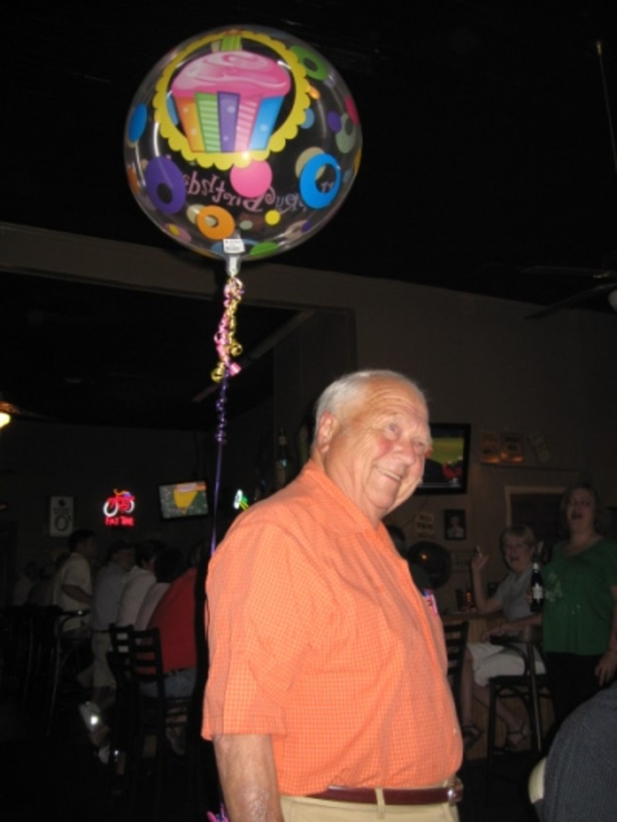 Friends Wish Doc Hellams A Happy Birthday at The Islander!