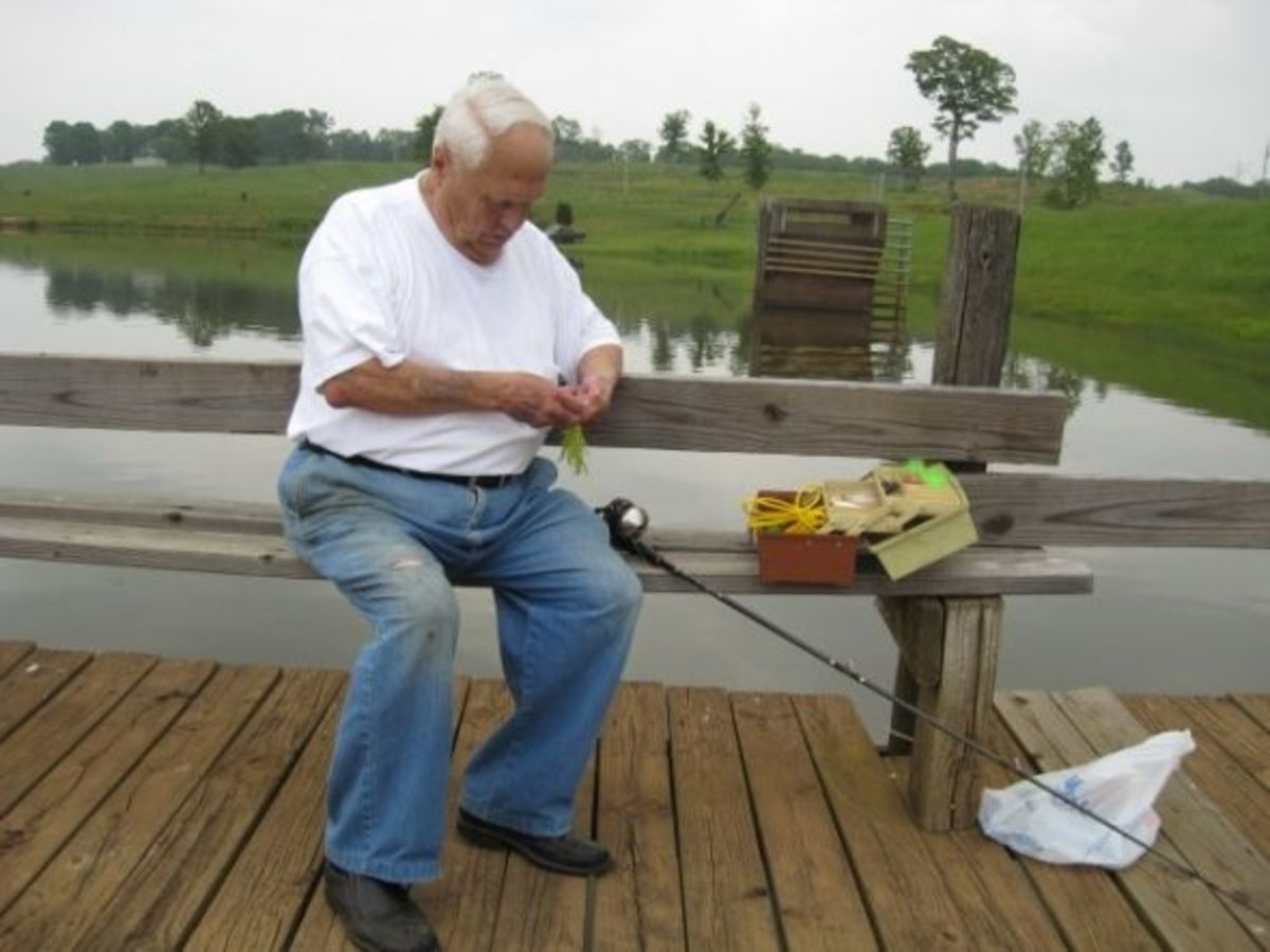 Doc Hellams enjoys fishing