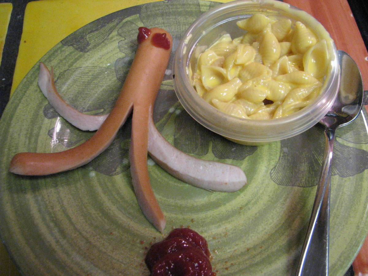 Serving Octopus hot dog