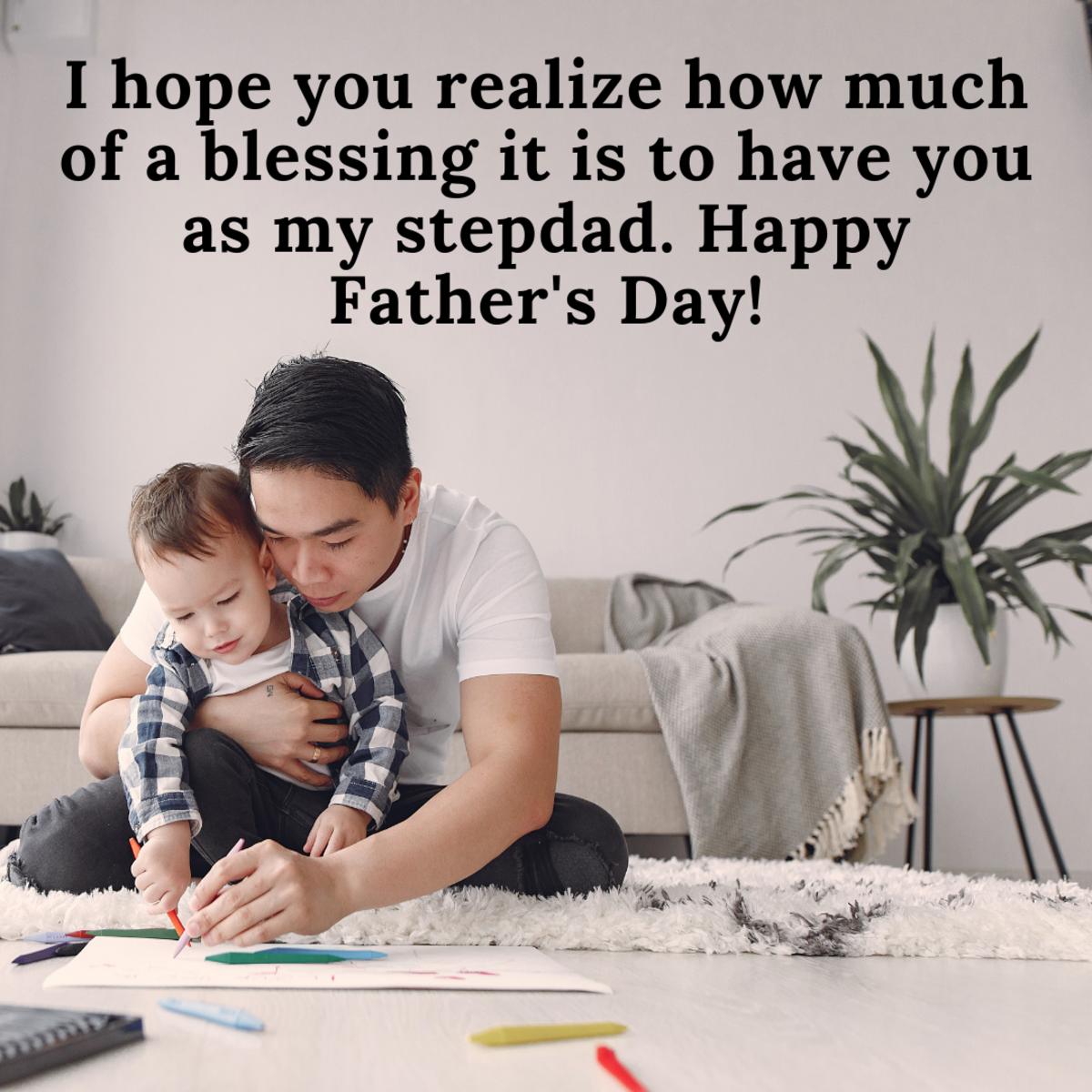 Stepdads deserve some recognition, too!