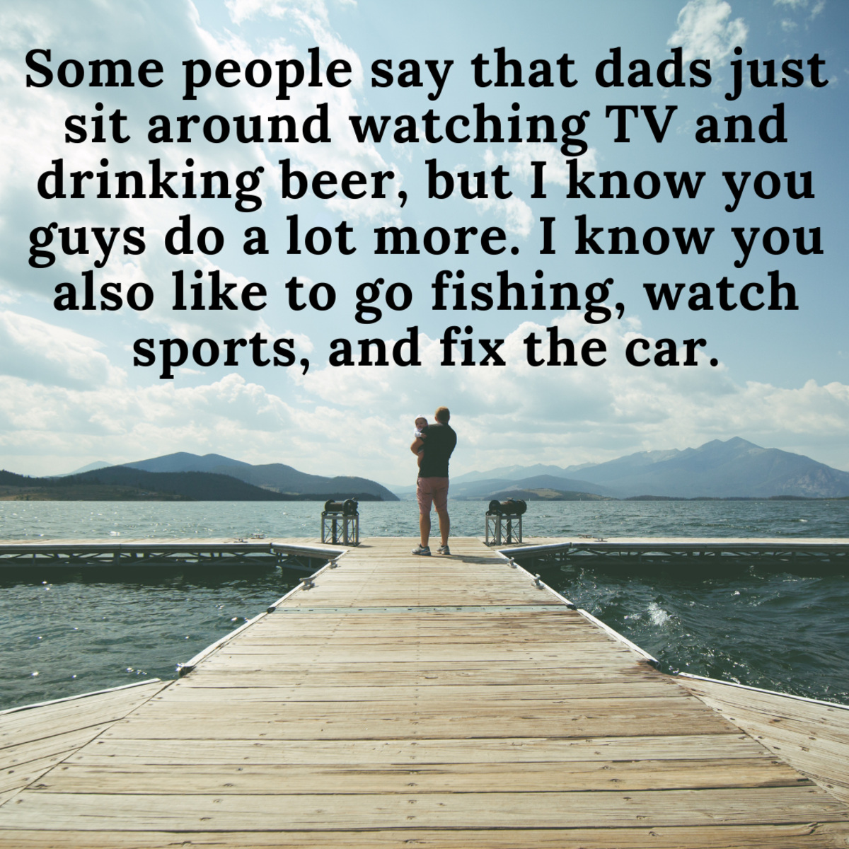 Sometimes, a humorous message is right for your dad.