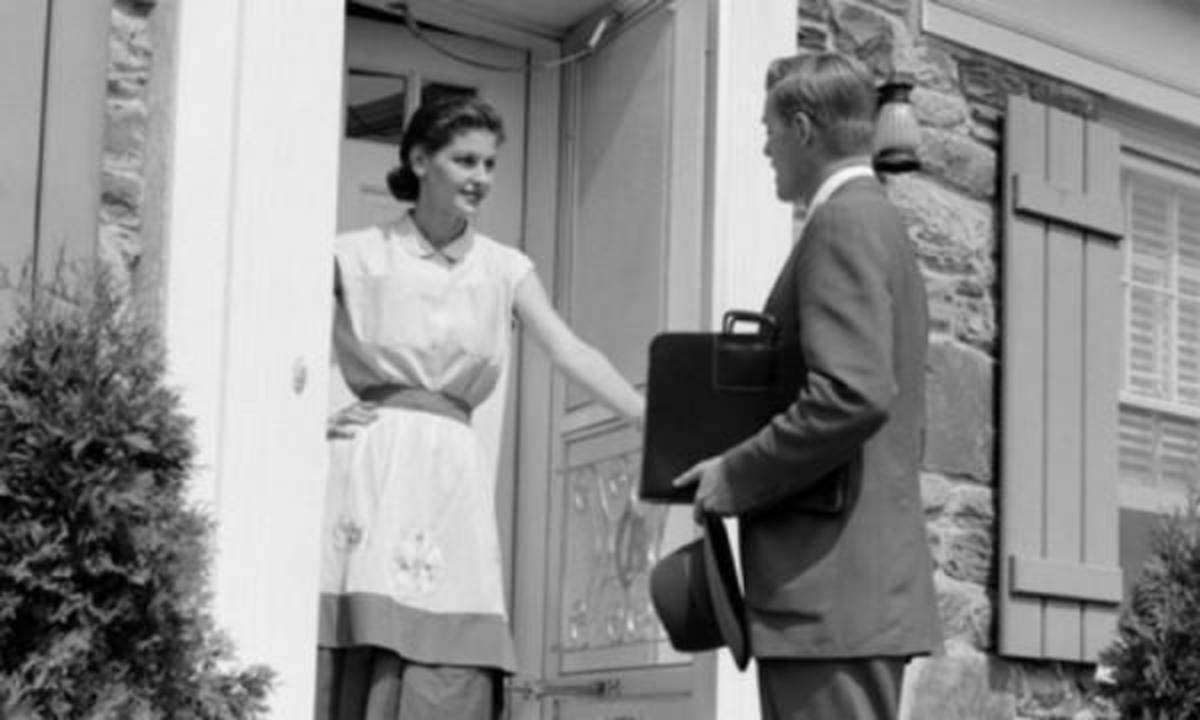 Door-to-door selling is still the best way to let customers see the product in-person.