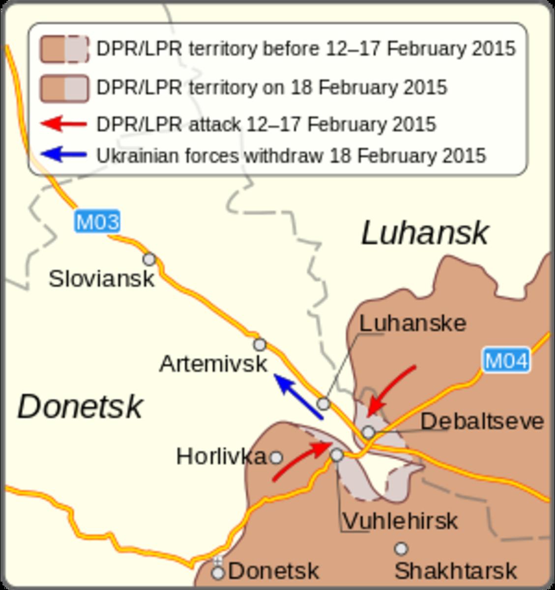Putin's War and His Little Green Men at Debaltseve, Ukraine, 2015