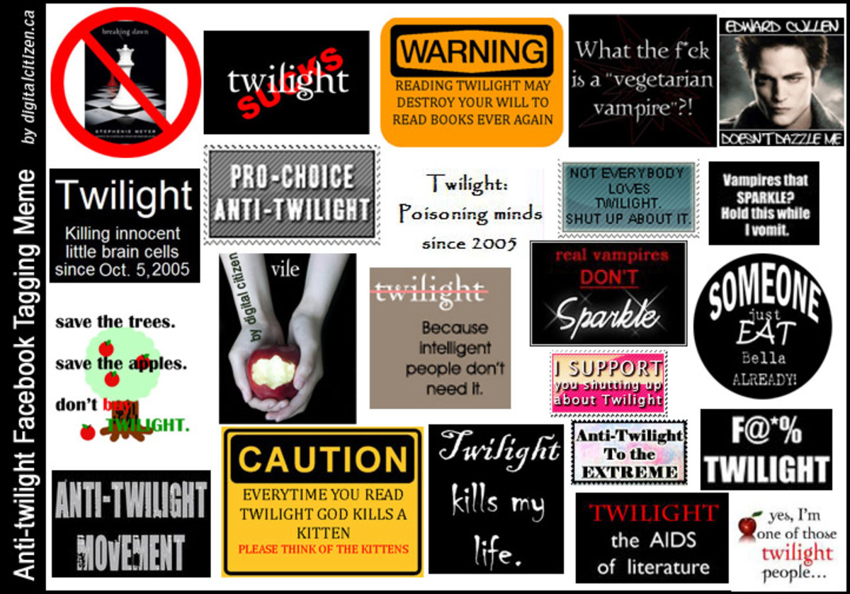 Anti-twilight signs of the times.