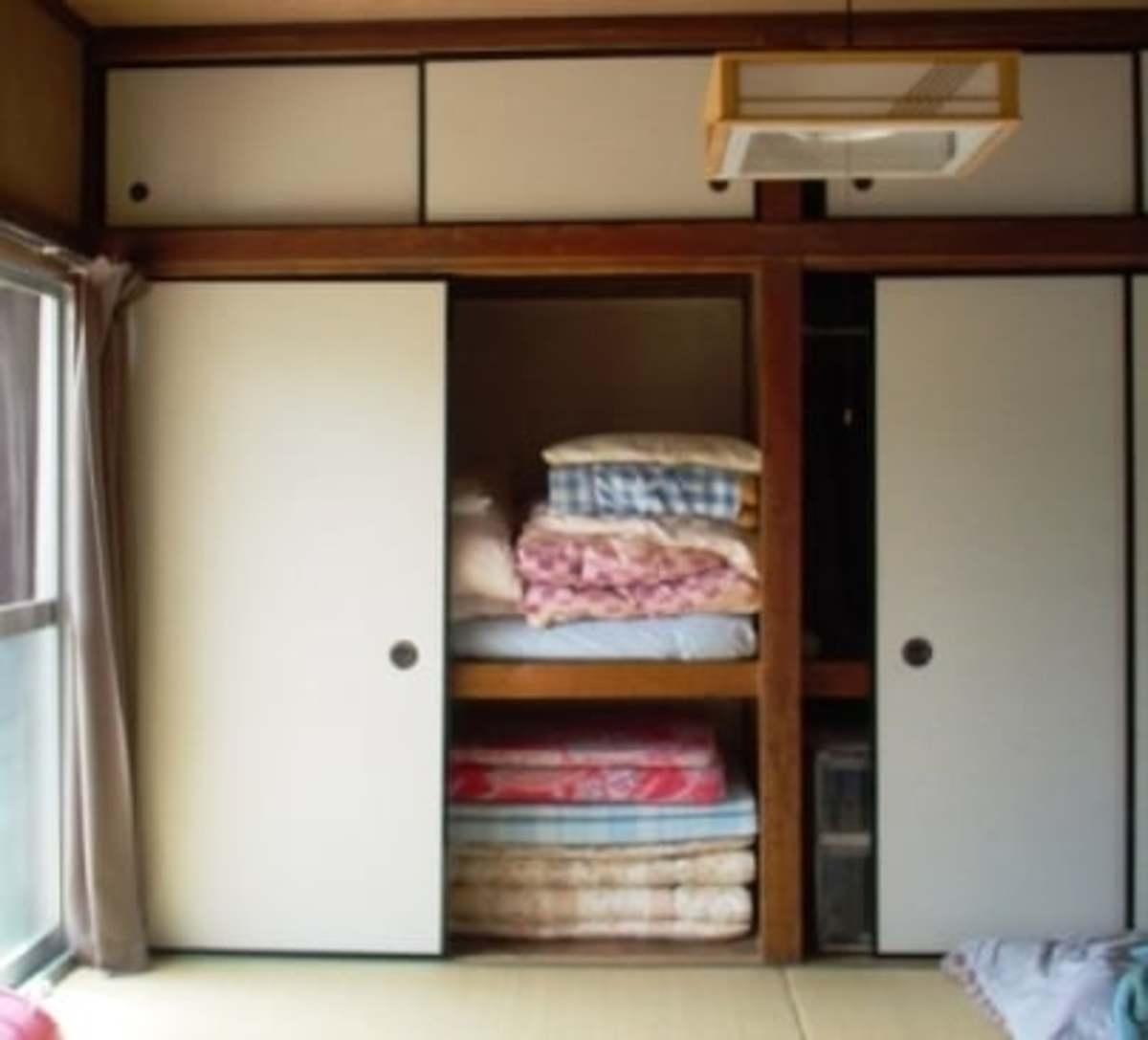 Typical Japanese closet.