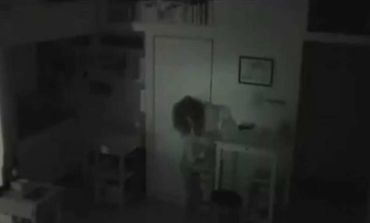 A woman trespassing inside the house.