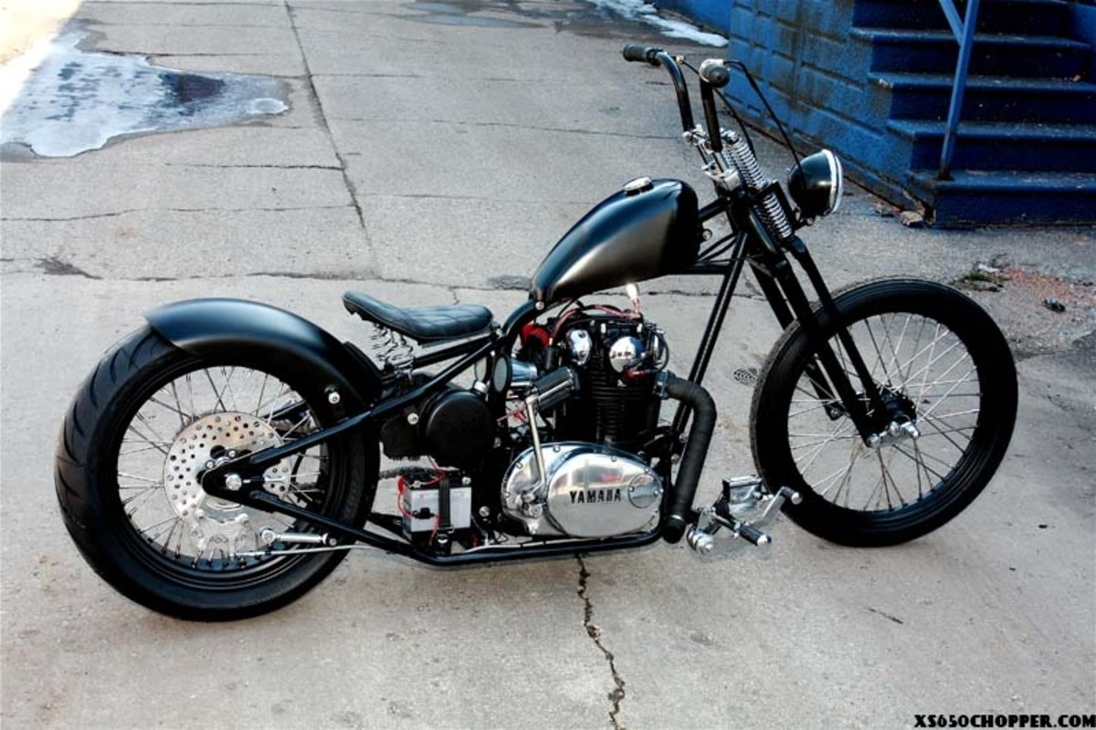 the gallery for gt xs650 bobber frame