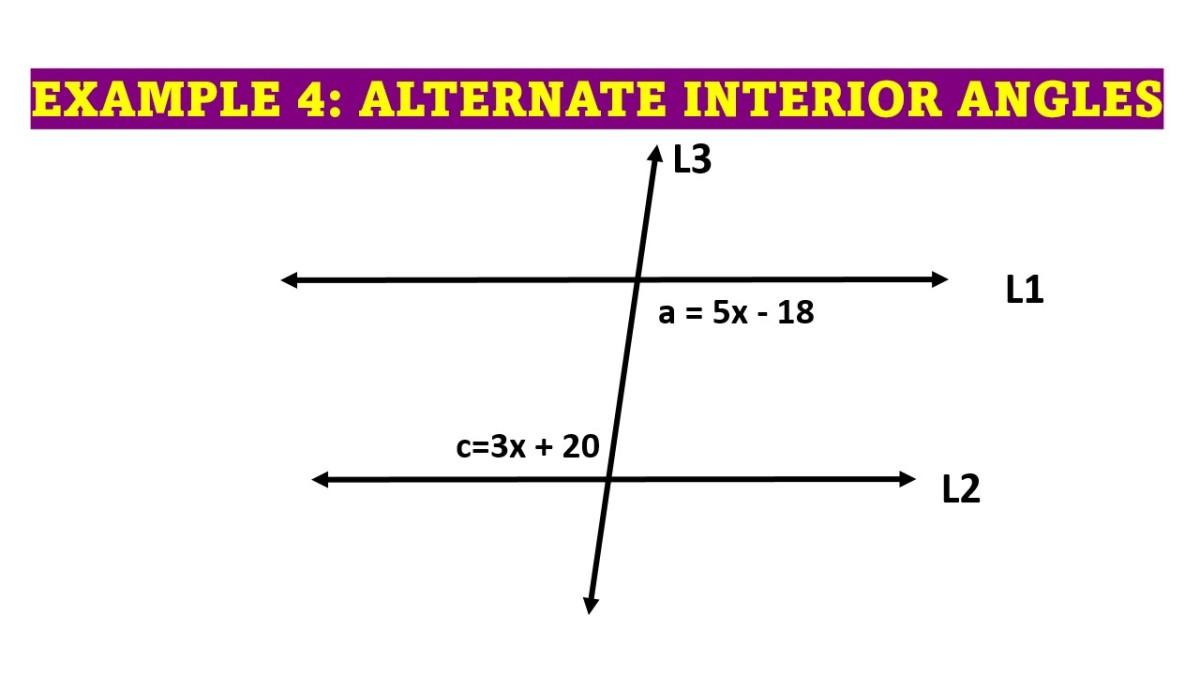 Example of Alternate Interior Angles