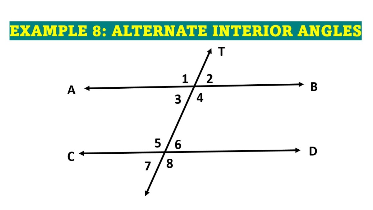 Alternate Interior Angles in a Parallel Line Cut by a Transversal