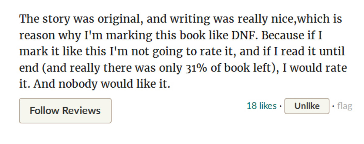 This is the portion of the review in which the reader praised what she liked about the book.