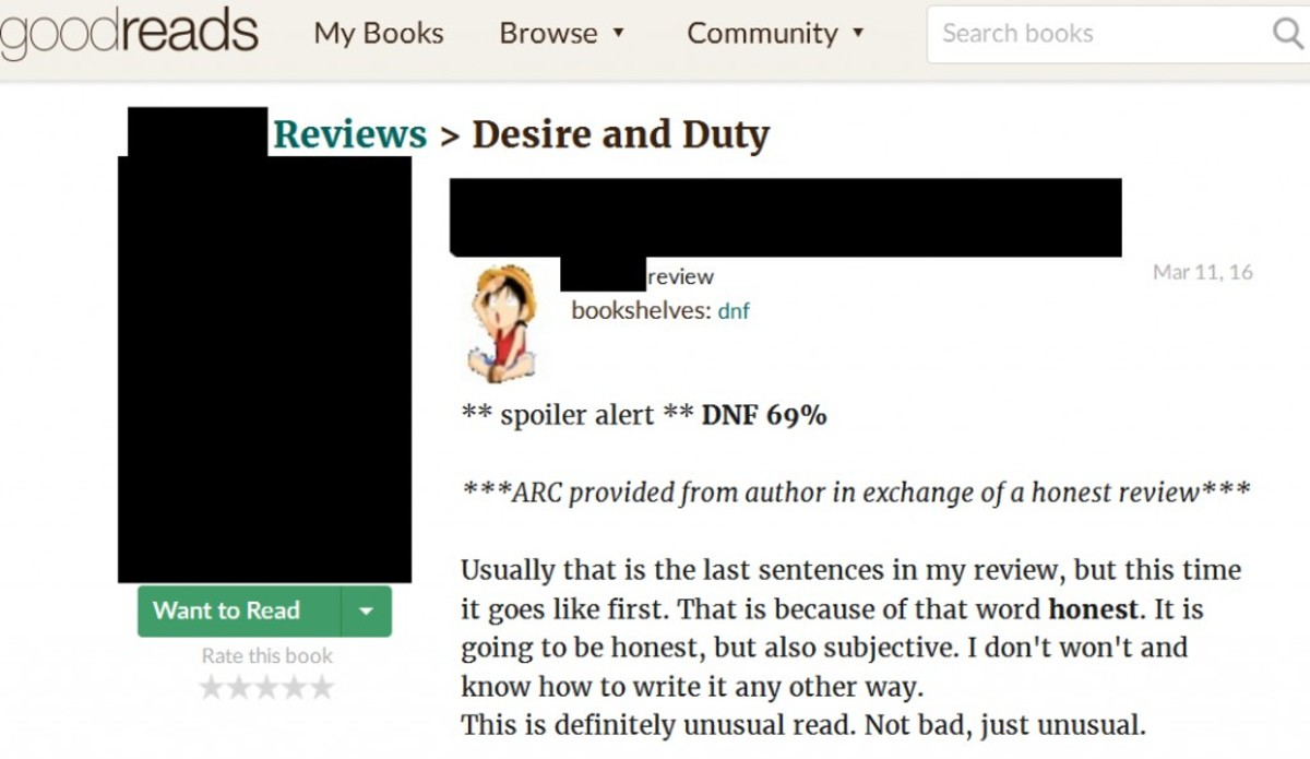 This is the beginning of the DNF review the author responded poorly to.