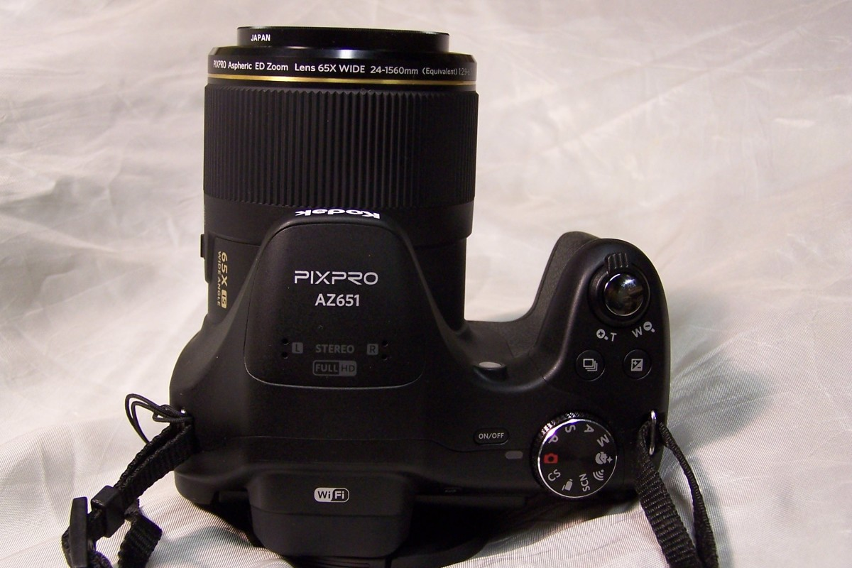 The PIXPRO AZ651, shown here with an ND2 filter.