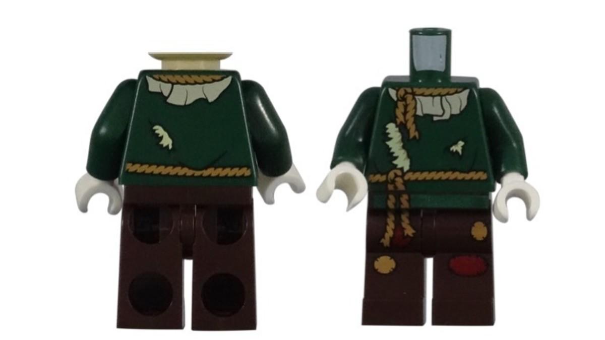 LEGO Scarecrow Minifigure Torso Piece